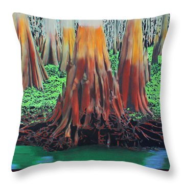 Old Swampy Throw Pillow