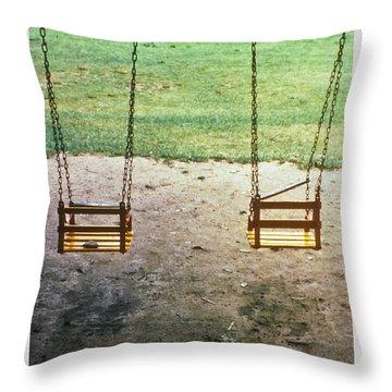Old Swings In Brookdale Park Throw Pillow