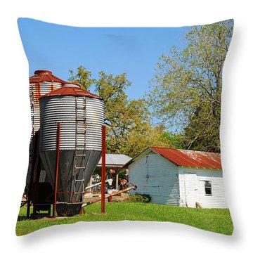 Old Texas Farm Throw Pillow