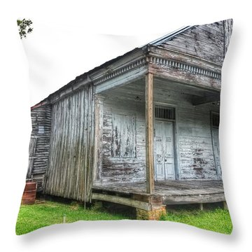 Old Theriot Post Office Throw Pillow