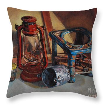 Old Things Throw Pillow by Mohamed Fadul
