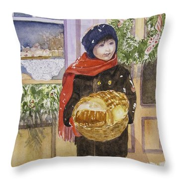 Old Time Christmas Throw Pillow by Carol Flagg