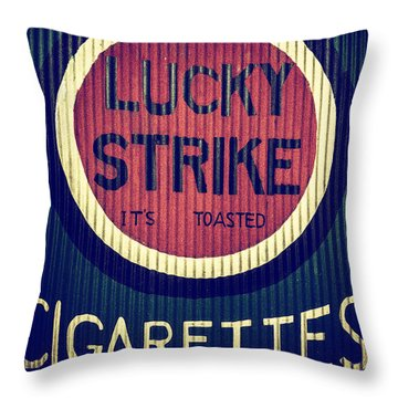 Old Time Cigarettes Throw Pillow