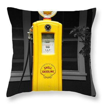 Throw Pillow featuring the photograph Old Time Gas Pump by David Lawson