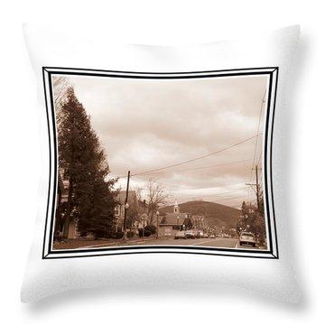 Old Time Main Street Throw Pillow