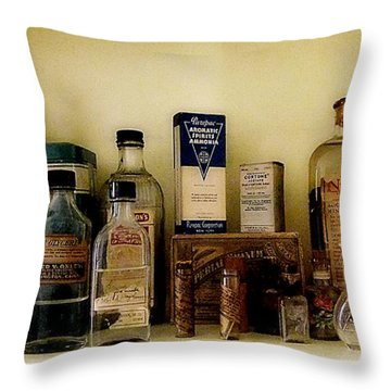 Old-time Remedies Throw Pillow