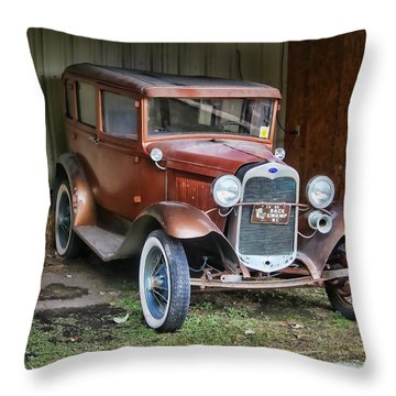 Old Timer II Throw Pillow by Victor Montgomery