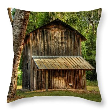 Throw Pillow featuring the photograph Old Tobacco Barn by Donald Williams
