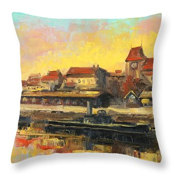 Old Torun Throw Pillow