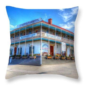 Old Town Cosmopolitan Throw Pillow by Heidi Smith