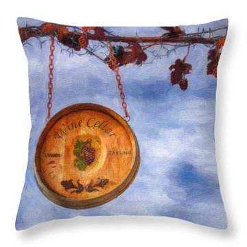 Verde Valley Wine Trail Throw Pillow by Priscilla Burgers