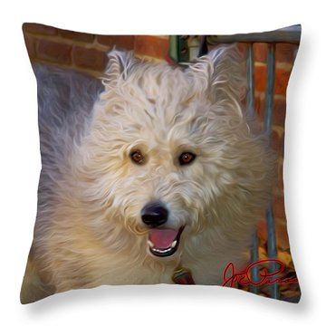 Old Town Eddie Throw Pillow