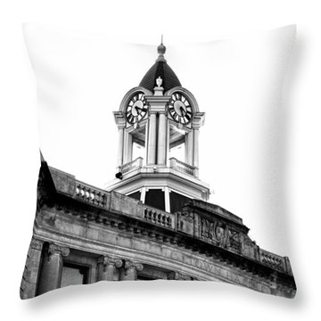 Old Town Hall In Stamford Throw Pillow
