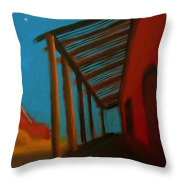 Throw Pillow featuring the painting Old Town by Keith Thue