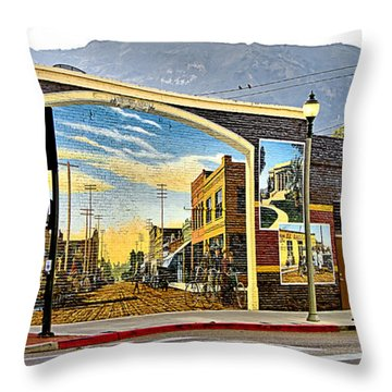 Old Town Mural Throw Pillow