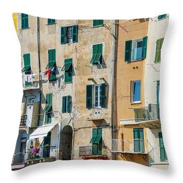 Old Town Portovenere Throw Pillow