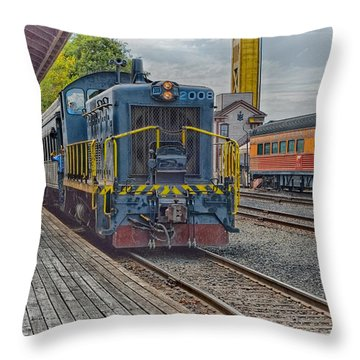Throw Pillow featuring the photograph Old Town Sacramento Railroad by Jim Thompson