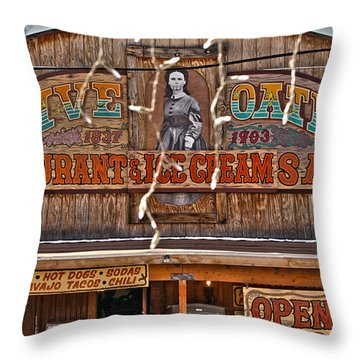 Old Town Saloon Throw Pillow