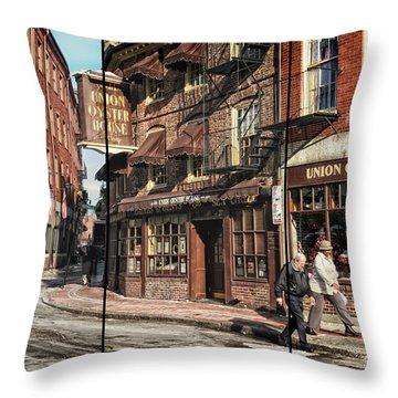 Old Towne Boston II Throw Pillow