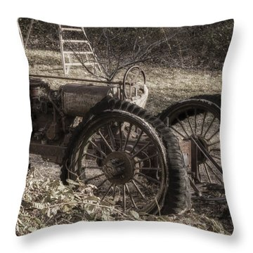 Throw Pillow featuring the photograph Old Tractor by Lynn Geoffroy