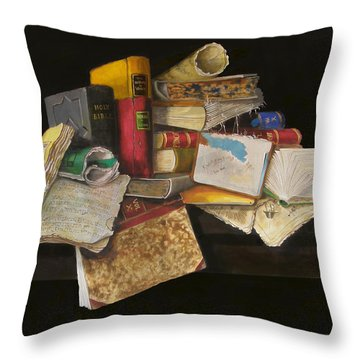 Old Traditions Throw Pillow by Barry Williamson