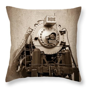 Old Trains Throw Pillow by Doug Long