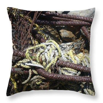 Old Trap  Throw Pillow by Minnie Lippiatt