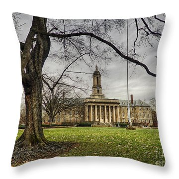 Old Tree At Old Main Throw Pillow