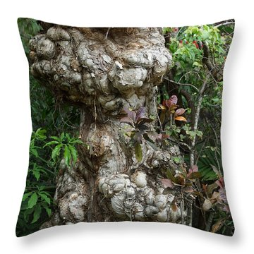 Throw Pillow featuring the mixed media Old Tree by Rafael Salazar