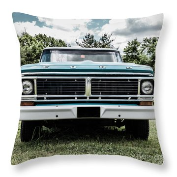 Old Ford Truck For Sale Throw Pillow