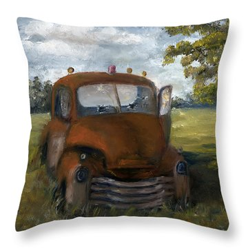 Old Truck Shreveport Louisiana Wrecker Throw Pillow