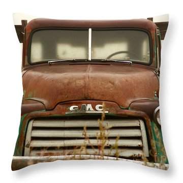 Old Truck Throw Pillow by Steven Reed