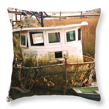 Old Tugboat By Jan Marvin Throw Pillow