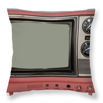 Vintage Tv Set Throw Pillow