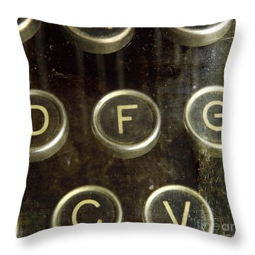 Old Typewrater Throw Pillow by Bernard Jaubert