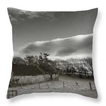 Old Unused Farm Near Ballyvooney, The Throw Pillow