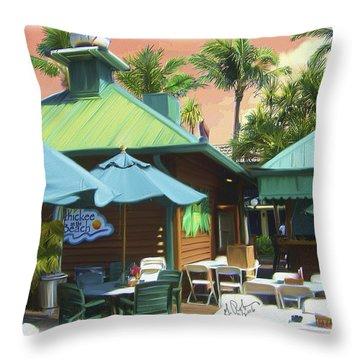 Old Vanderbilt Inn Throw Pillow by Gerry Robins