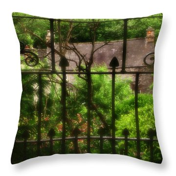 Old Victorian Gate - Peak District - England Throw Pillow by Doc Braham