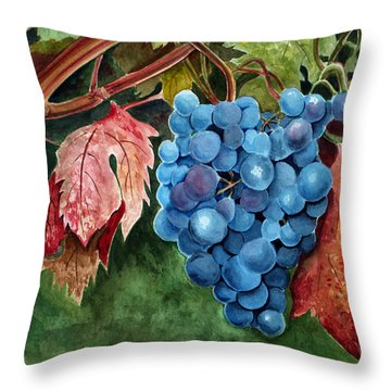 Old Vine Zinfandel Throw Pillow by Debbie Hart