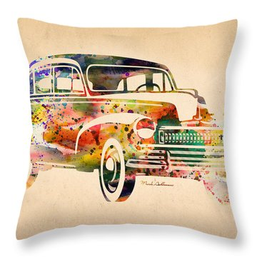 Old Volkswagen Throw Pillow by Mark Ashkenazi