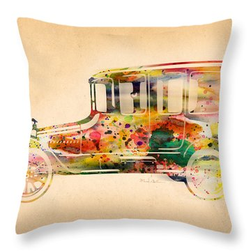 Old Volkswagen3 Throw Pillow by Mark Ashkenazi