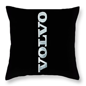 Old Volvo Emblem Throw Pillow
