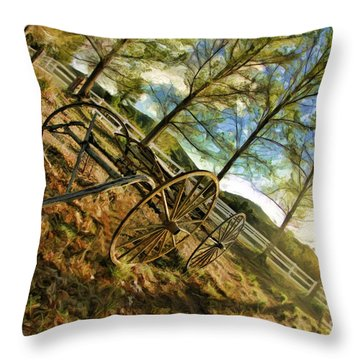 Old Wagon Throw Pillow