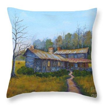 Old Walker Homestead #2 Throw Pillow