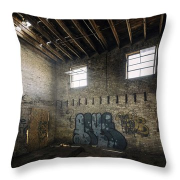 Old Warehouse Interior Throw Pillow by Scott Norris