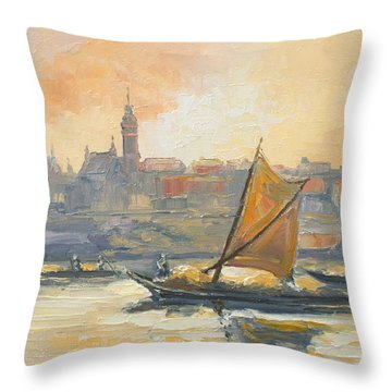 Old Warsaw Throw Pillow