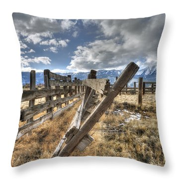 Old Washoe Corral Throw Pillow by Dianne Phelps