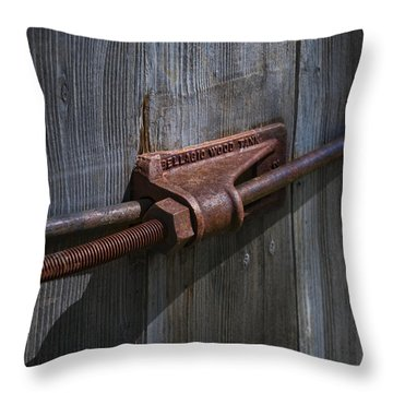 Old Water Tank Throw Pillow