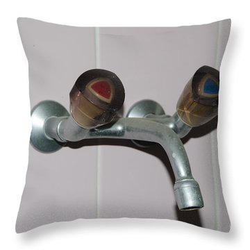 Old Water Tap Throw Pillow by Mats Silvan