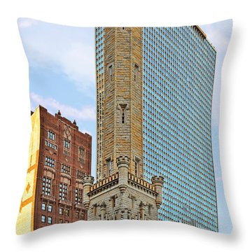 Old Water Tower Chicago Throw Pillow by Christine Till